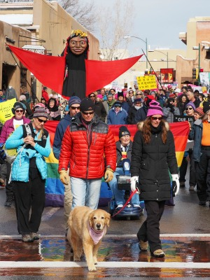 womens march in santa fe 2017 with wise fool