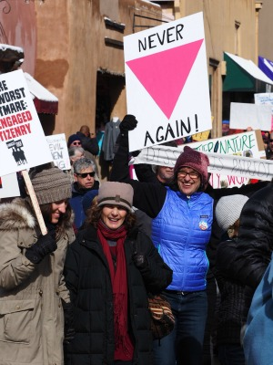 womens march in santa fe 2017 never again